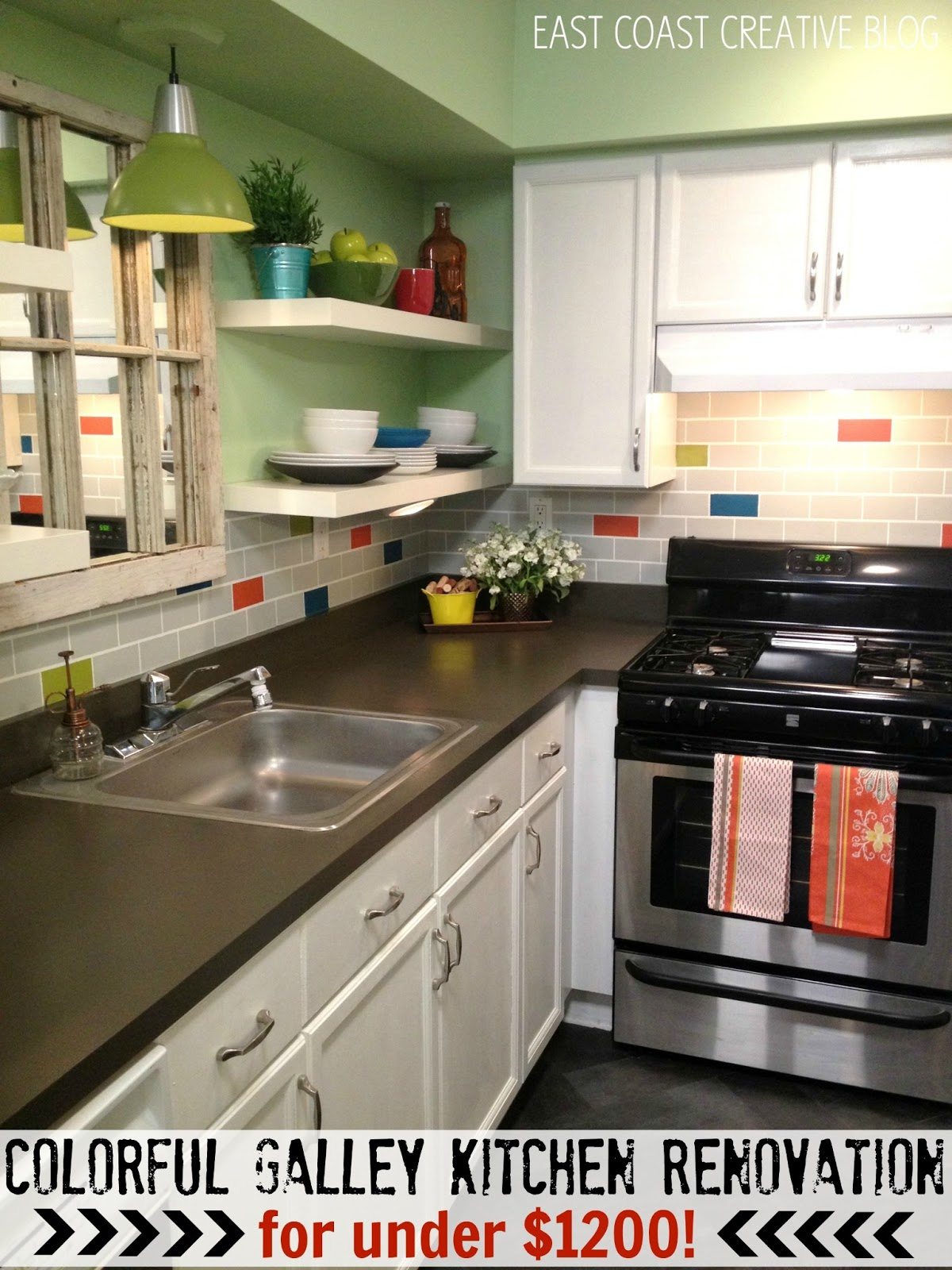 Kitchen Remodel Blogs Creative Colorful Kitchen Renovation Knock It Off  East Coast Creative Blog