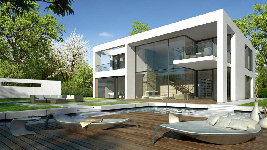 3d front london new york 3d front elevation Modern house architect new york