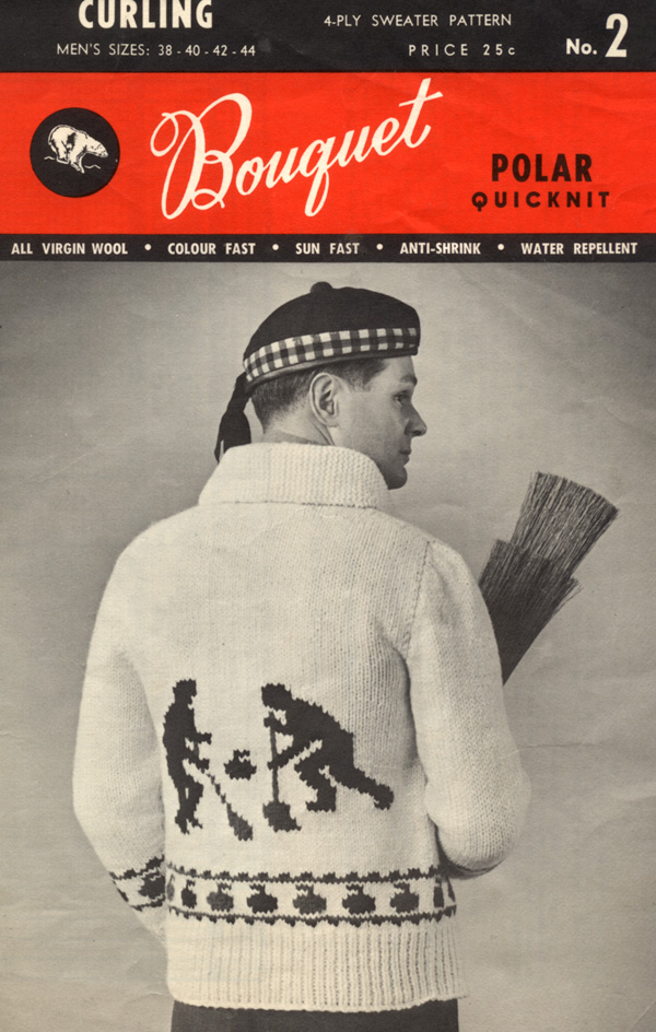 Knitting Patterns For Curling Sweaters : Curling History: Hand-knitted curling sweaters