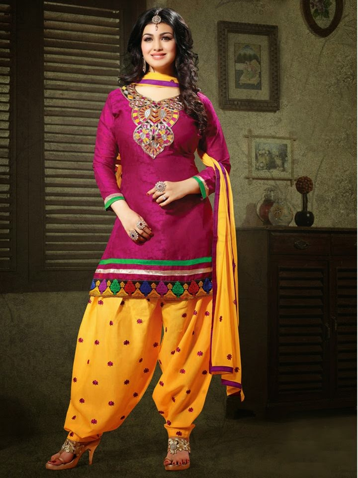 stylish and latest patiala suits for young girls 2015 by