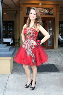 Red junior plus size peacock prom dresses short 2013
