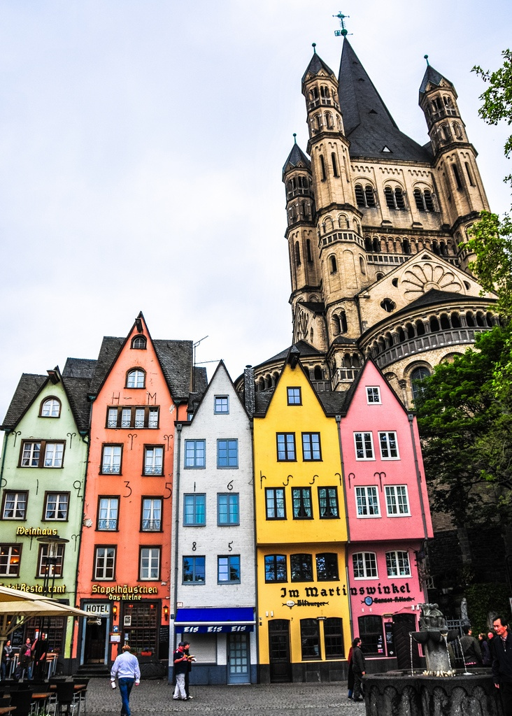 Cologne Germany  city images : Colorful Buildings Cologne, Germany