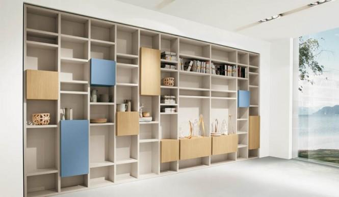 Dekorasyon aksesuar modern kitaplik modelleri - Libreria ikea lack ...