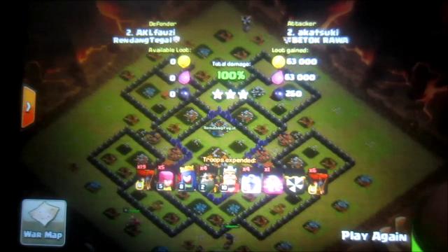 Strategy War attack dengan Lavaloon ( Lava Hound + Baloon)