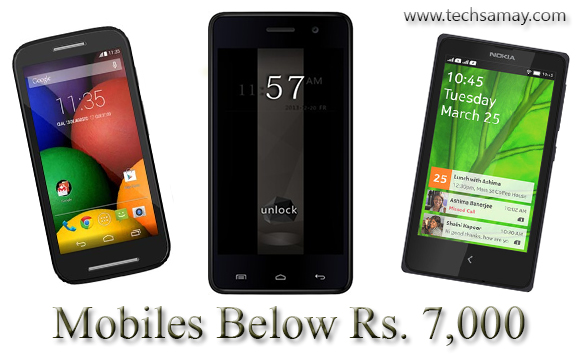 Mobiles below Rs 7000