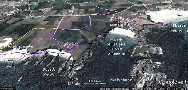 Mapa 4 -  senda Costera de Tapia de Casariego a La Playa de Peñarronda