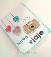 tarjeta, boda, viaje, patrón corazón ganchillo, crochet heart pattern, scrapbook, scrap, violín cantarín, violin cantarin