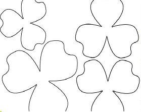 Manualidades para regalar, patrones flor rosa