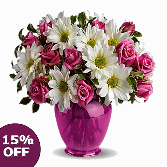15% off on all flowers