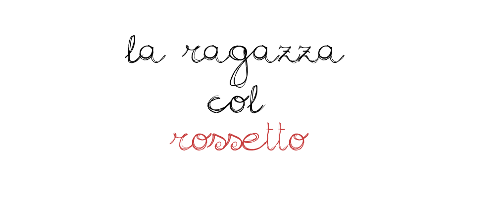 La ragazza col rossetto.