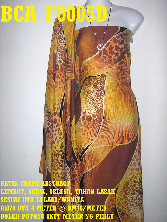 BCA F0005D: BATIK CREPE ABSTRACT,  4 METER