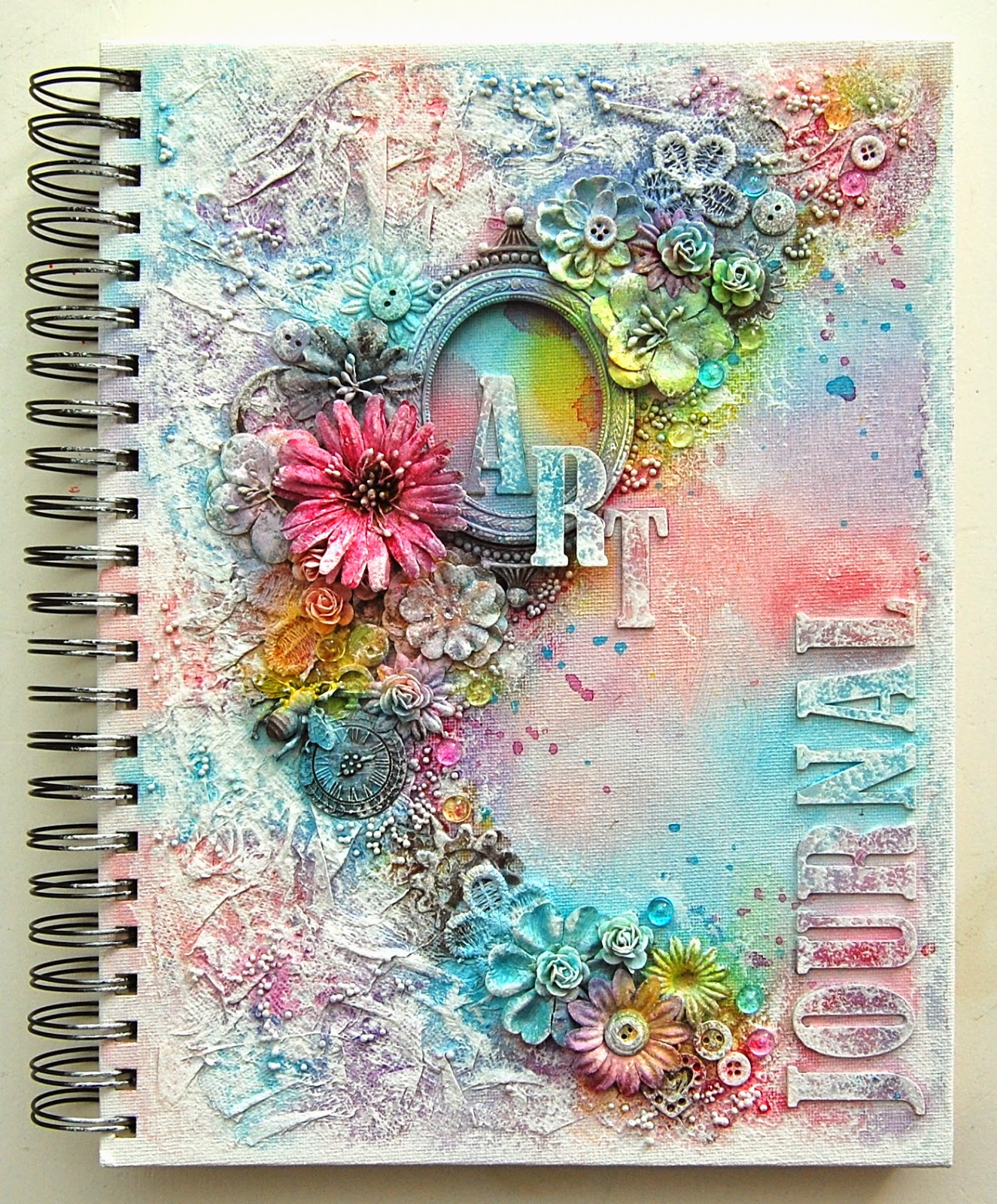 How To Make A Book Cover In Paint : Ingrid s place art journal shimmerz