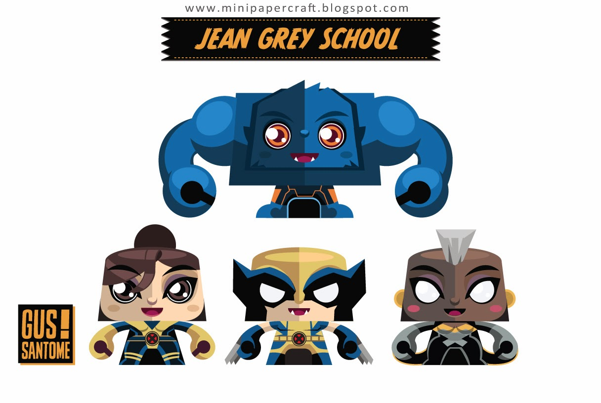Jean Grey School Paper Toys