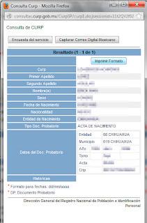 Obtener CURP, Imprimir CURP, México, documentos oficiales