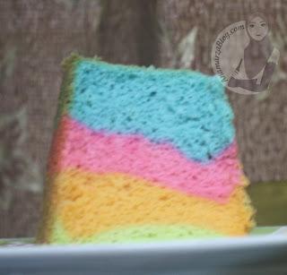 kek chiffon pelangi