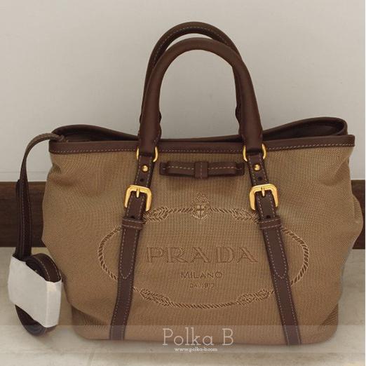 Prada Bauletto Jacquard Top Handle Bag (BN1841) Corda+Bruciato ...