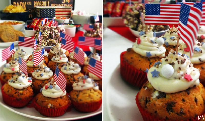 ♥ Syntymäpäivät Amerikka-teemalla & mariannemuffinit