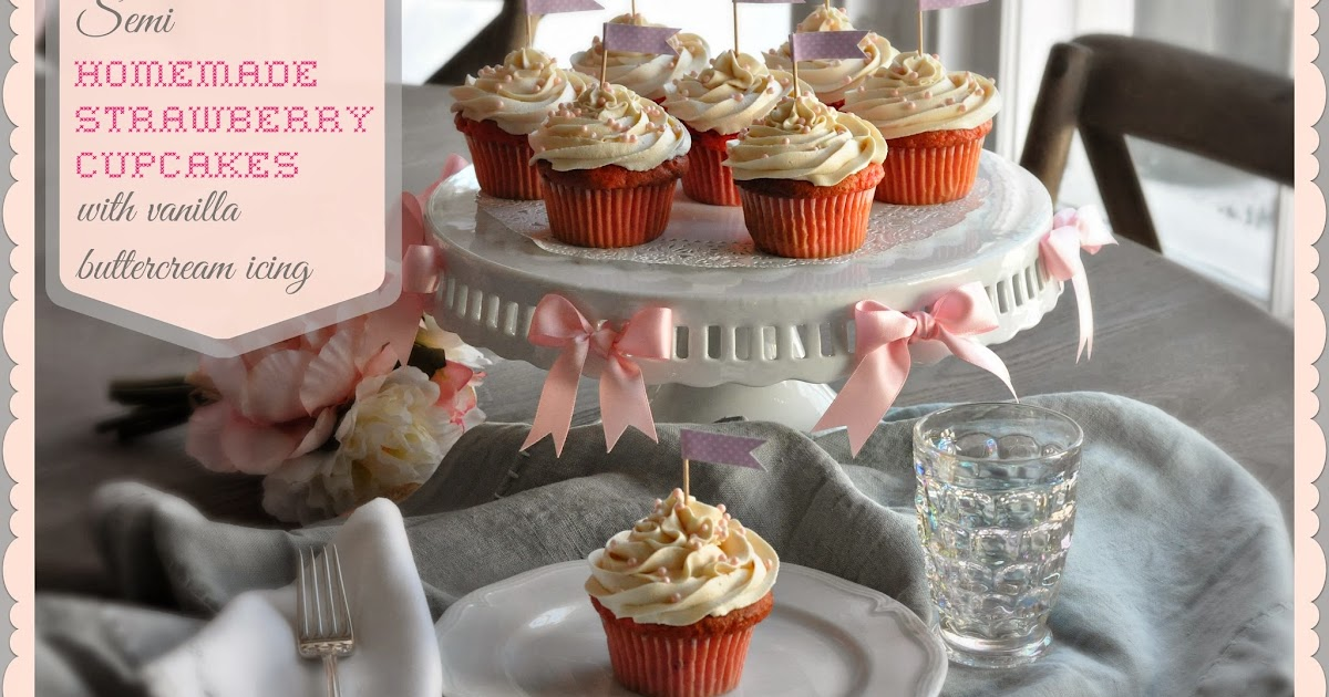 how to make homemade strawberry icing for cupcakes
