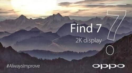 Oppo Find 7,Smartphone canggih