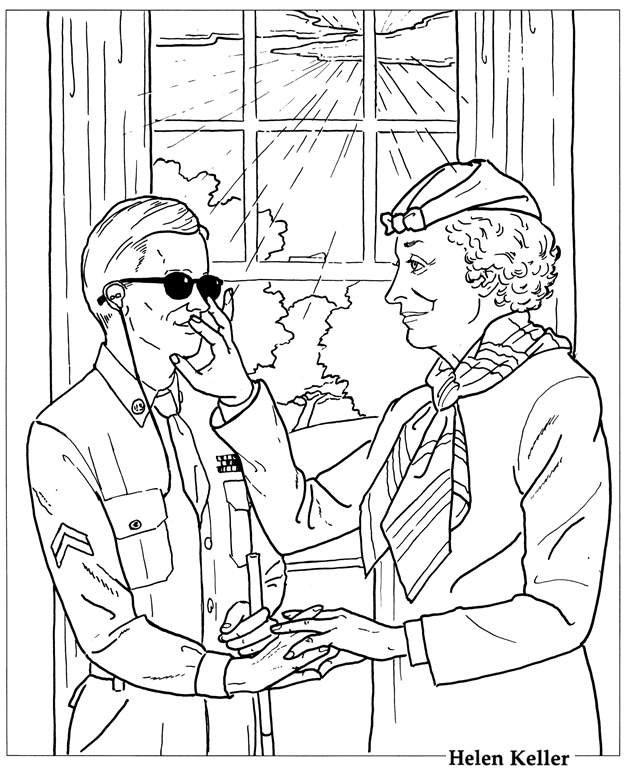 Waco Mom A Coloring Page To Celebrate Helen Keller Helen Keller Coloring Page For