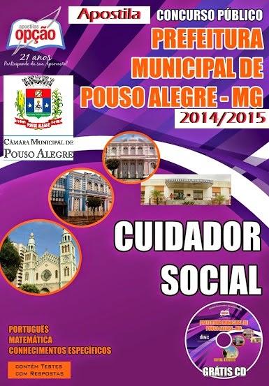 Apostila Prefeitura de Pouso Alegre-MG - Cuidador Social - 2014