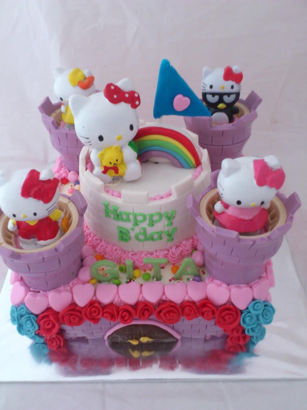 Home Gambar Lainnya Kue Ulang Tahun Anak Perempuan Hello Kitty | Foto ...