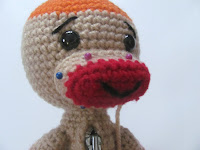 crochet sock monkey muzzle