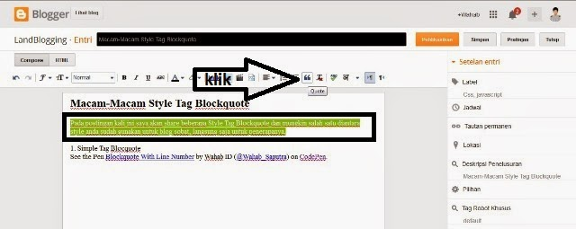 Tag Blockquote