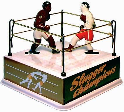 Boxeurs noir et blanc