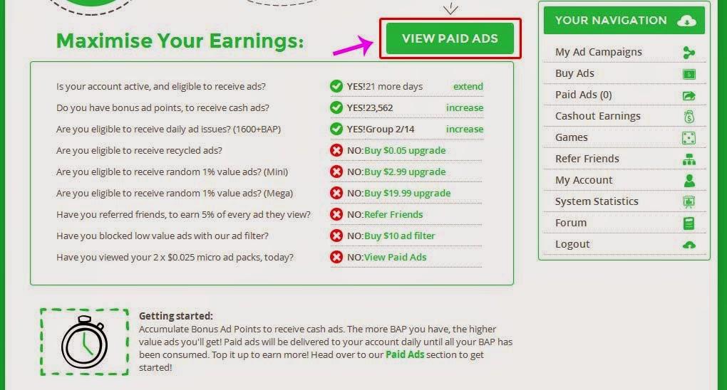 Cara Mendapat Dollar Di Paidverts