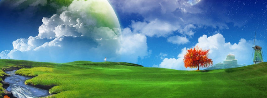 Dreamy landscape facebook cover