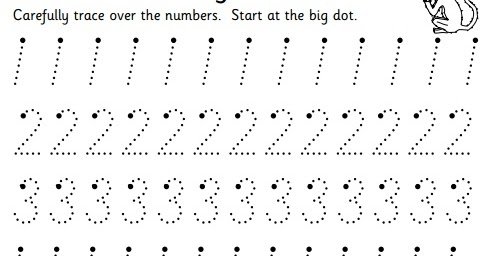 preschool number tracing worksheets 1 20