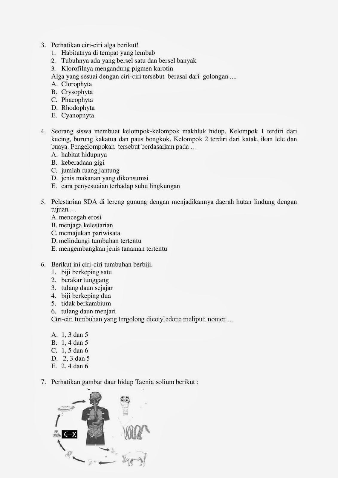 Prediksi Ujian Nasional Iv Biologi Terlengkap