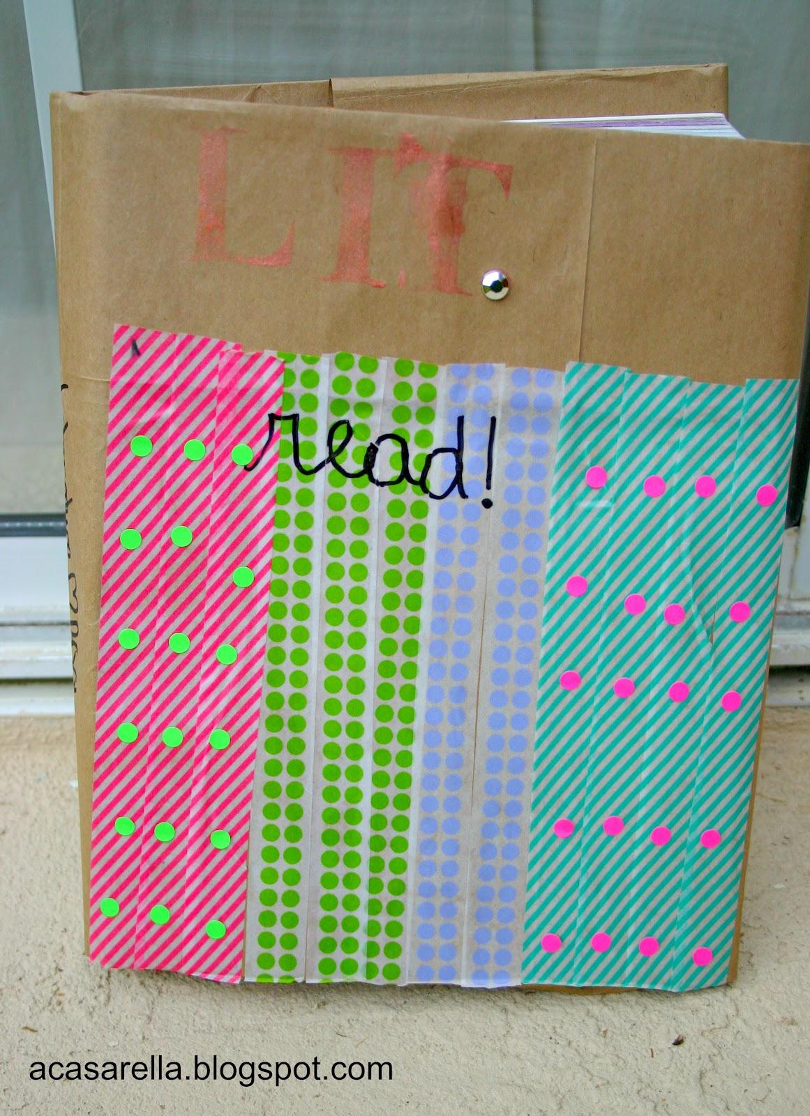 Book Cover Using Paper Bag : Decorating paper bag book covers a casarella