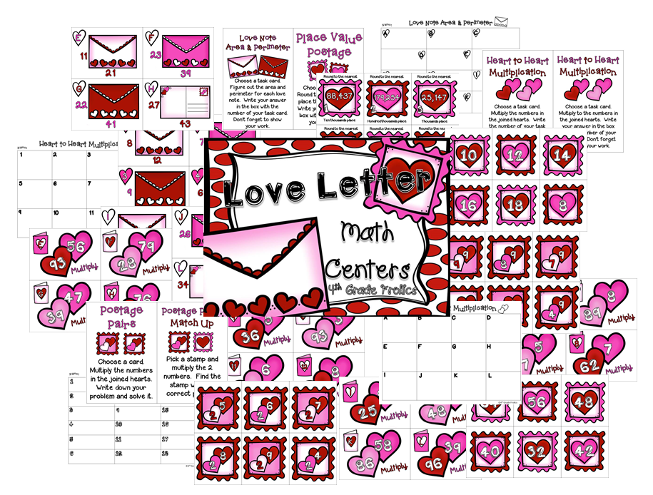 http://www.teacherspayteachers.com/Product/Love-Letter-Math-Centers-1044806