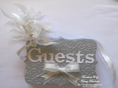 HAND MADE WEDDING GUEST BOOK MADE WITH STAMPIN 39 UP