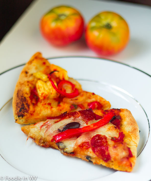 Heirloom Tomato Pizza Sauce and Homemade Pizza Crust