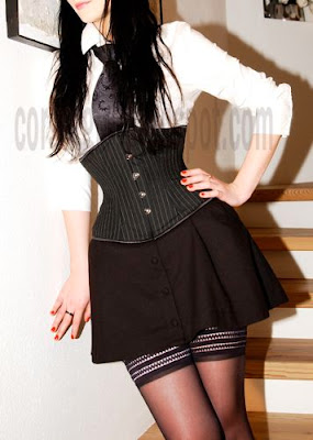 Underbust Corset Over Blouse