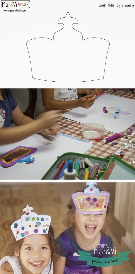 Manualidades para niños, coronas de princesas