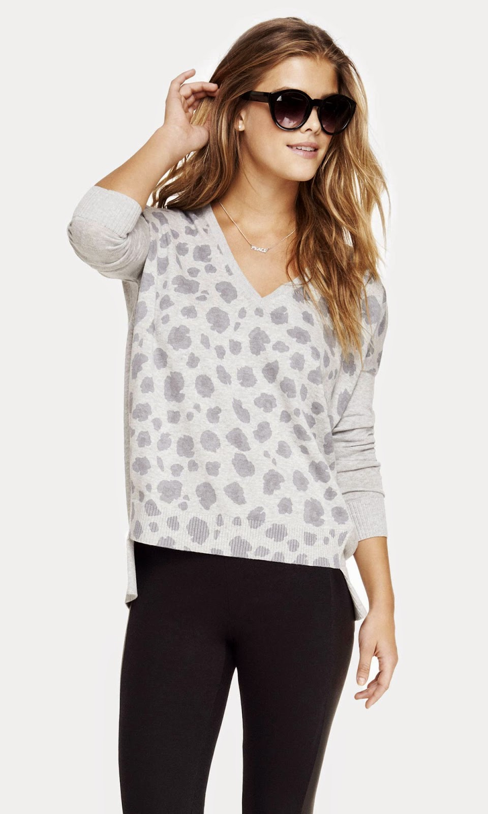 Nina Agdal poses for Express Collection's 2014 Lookbook