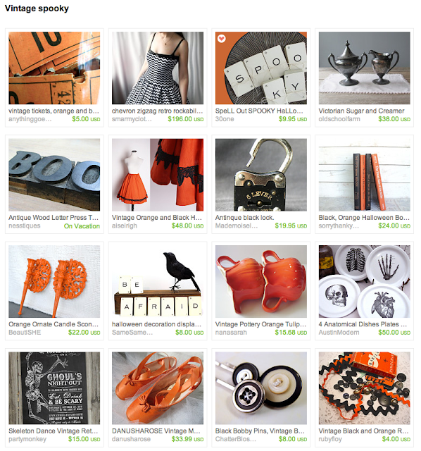 Fun and spooky black, orange, white themed October Halloween items