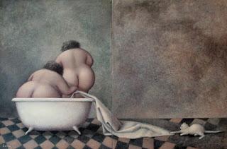 две голые толстушки залезли вместе в  ванну