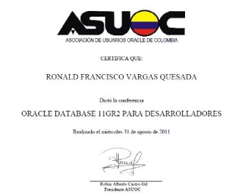 Reconocimiento ASUOC