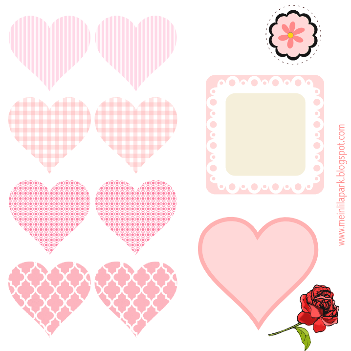 Today I created these free digital heart and flower scrapbooking ...