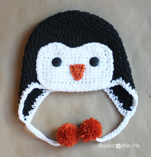Crochet Penguin Hat Pattern - Repeat Crafter Me