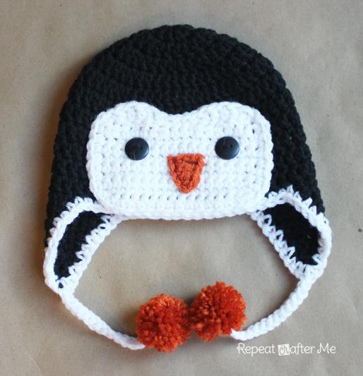 Free Crochet Pattern Penguin Afghan : Crochet Penguin Hat Pattern - Repeat Crafter Me
