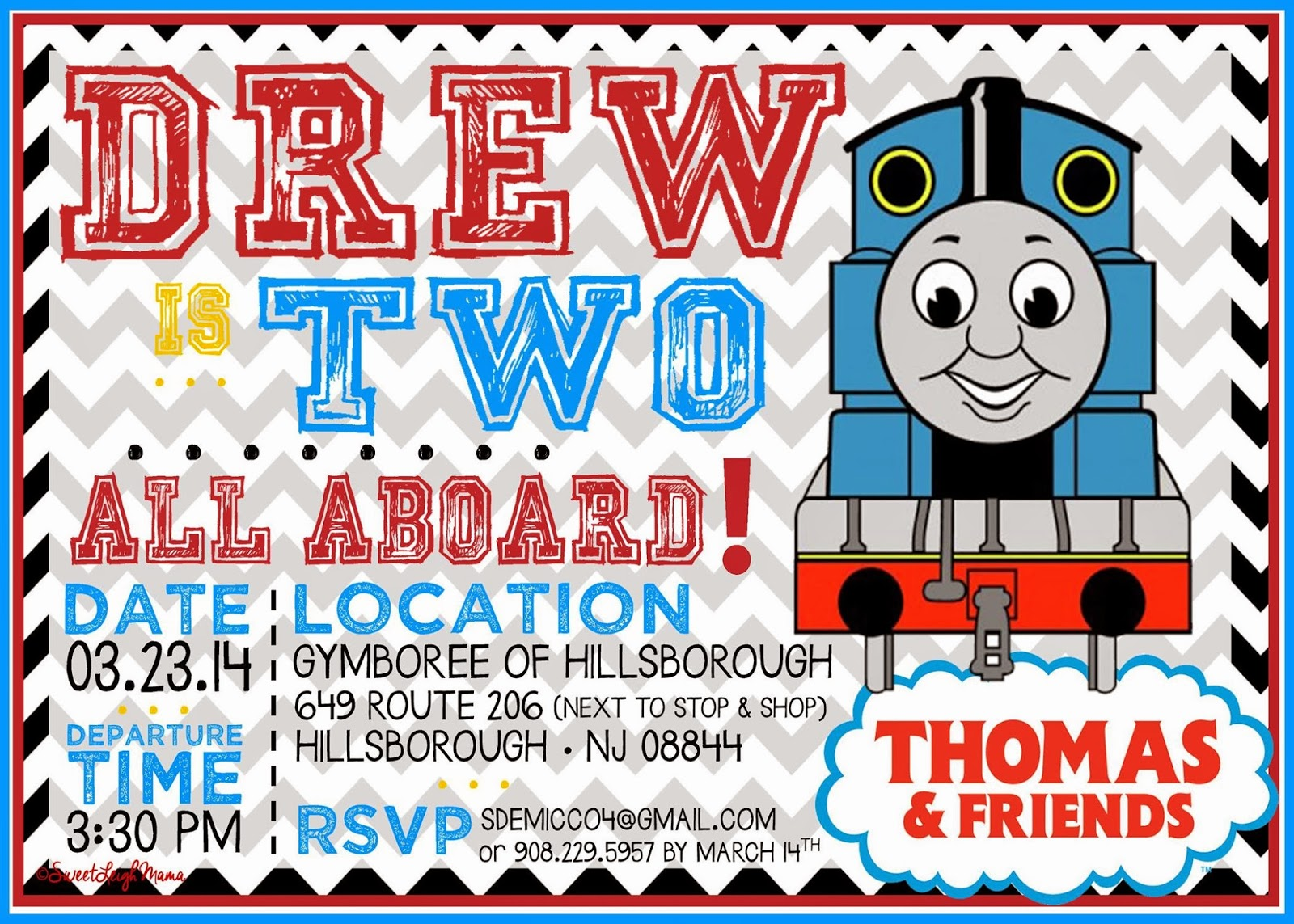 Sweet Leigh Mama Atlanta Mommy Blog NEW Thomas the Train – Thomas the Train Birthday Invites