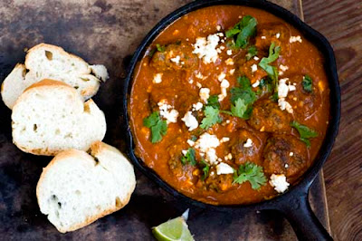 Tex-Mex meatballs in chipotle-tomato sauce