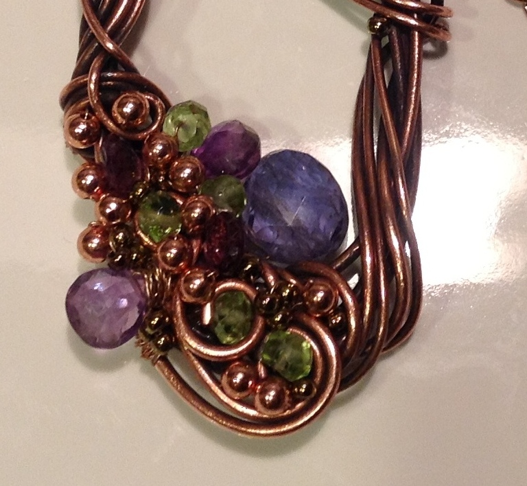 perfectly twisted handmade wire wrapped beaded and