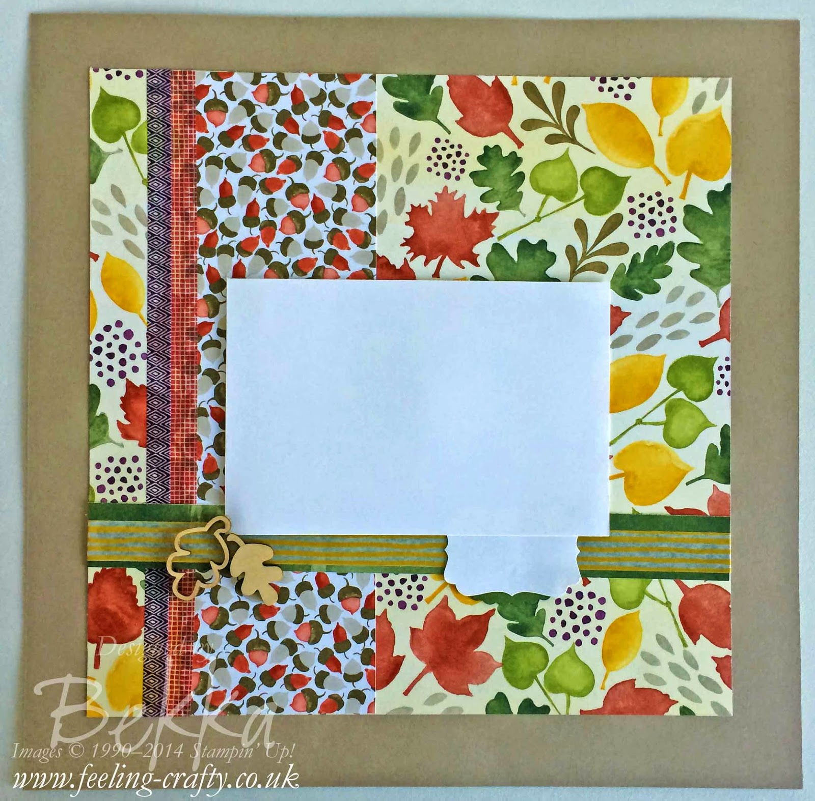 Scrapbook Page using the Color Me Autumn Papers from Stampin' Up! UK